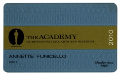 Annette Funicello 2010 Academy Award Membership Card