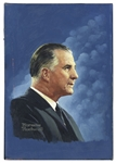 Norman Rockwell Oil Painting of Vice President Spiro Agnew -- Cover Illustration for TV Guide on 16 May 1970