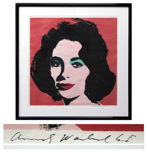 Andy Warhol Liz Taylor lithograph Andy Warhol 1965 Red ''Liz'' Lithograph -- Limited to Approximately 300