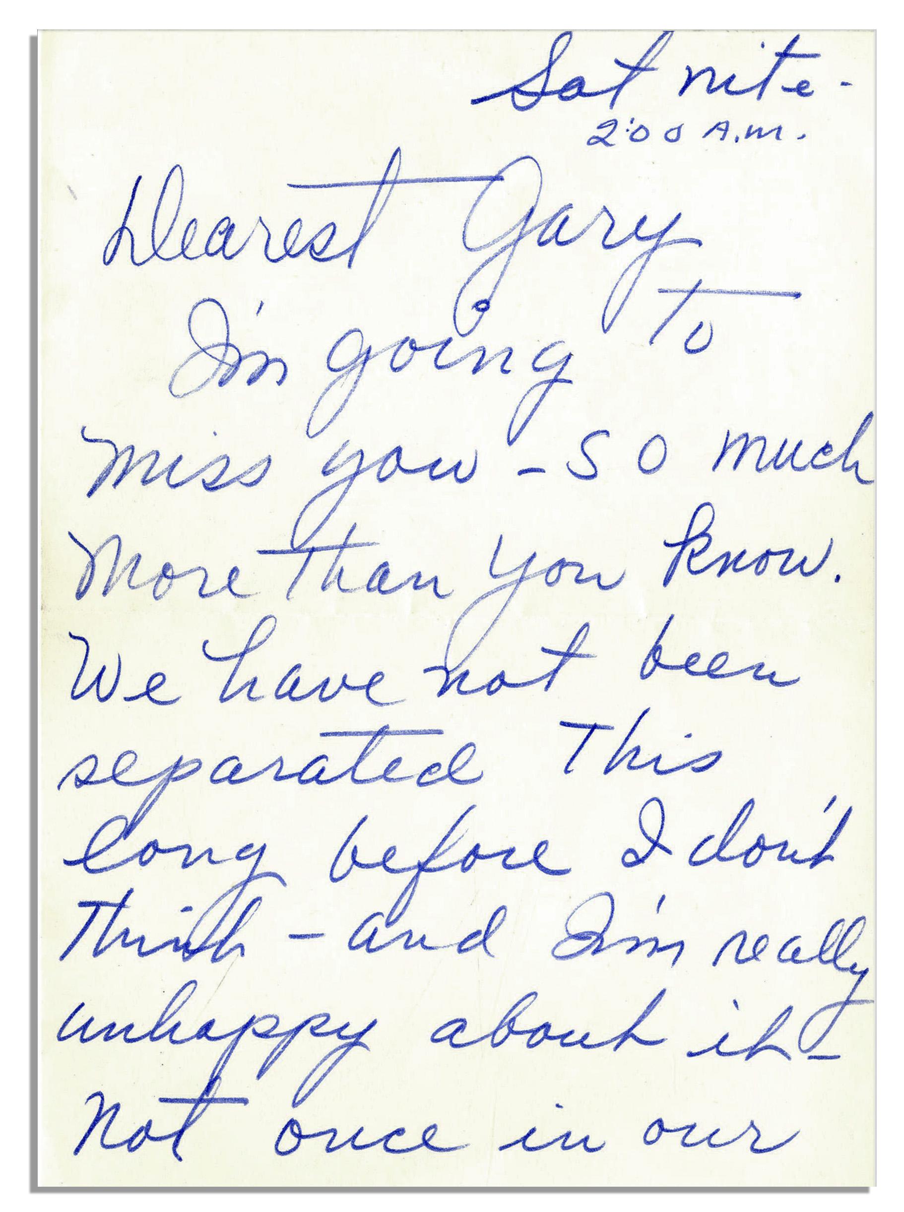 Lot Detail Lucille Ball Handwritten Letter I m going to