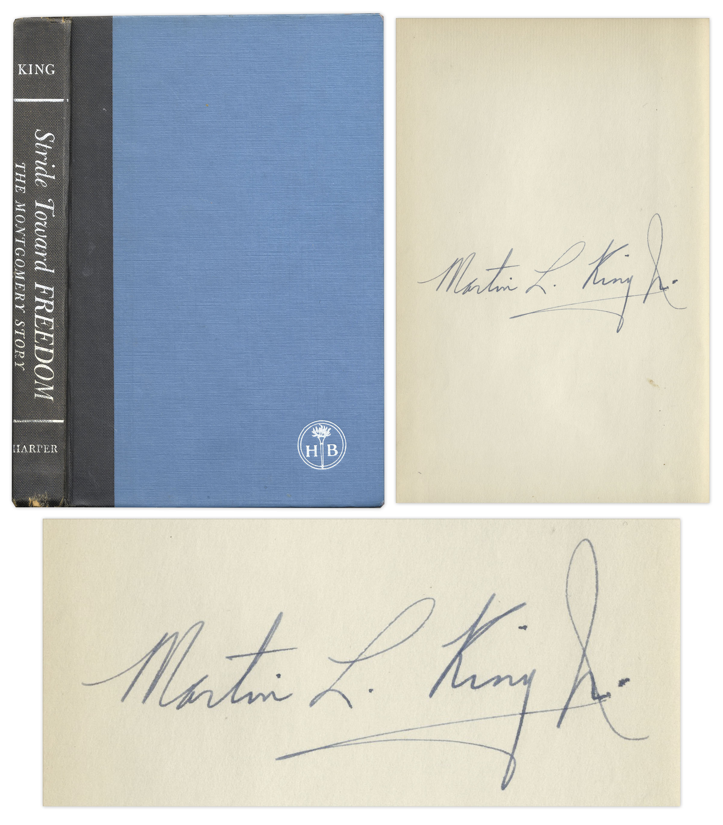 Martin Luther King Stride Toward Freedom signed