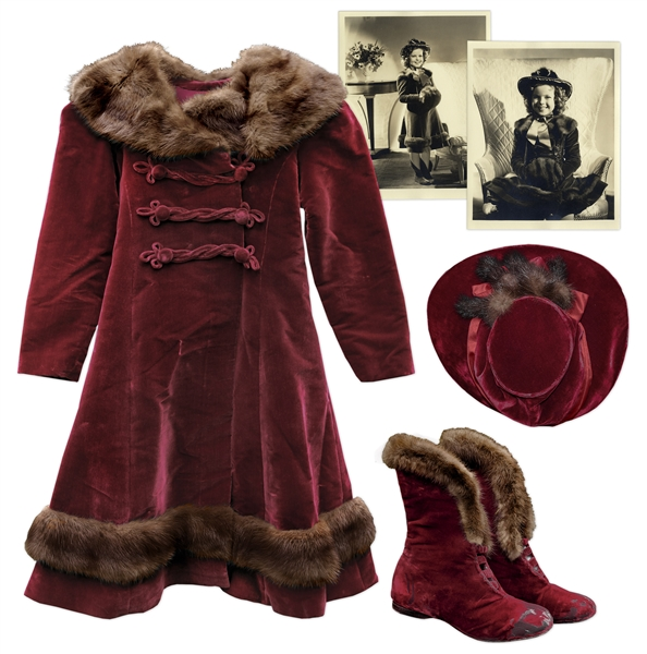 Shirley Temple Costume Auction Shirley Temple Screen-Worn Red Velvet Costume From 1937 Film ''Heidi''