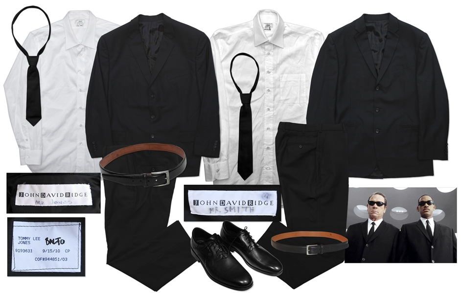 Iconic Black Suits from ''Men in Black 3'' Screen-Worn by Will Smith and Tommy Lee Jones