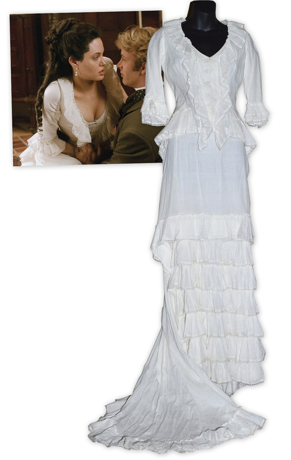 Angelina Jolie Original Sin lot detail - angelina jolie screen-worn costume from