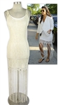 Kourtney Kardashian Owned White Dress & Slip