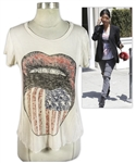 Kourtney Kardashian Owned American Flag Tongue Shirt