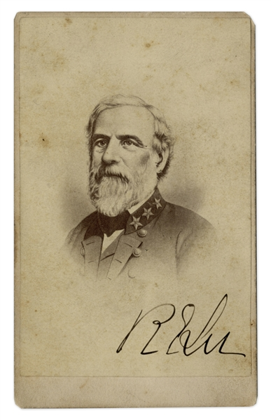 General Robert E. Lee Signed CDV