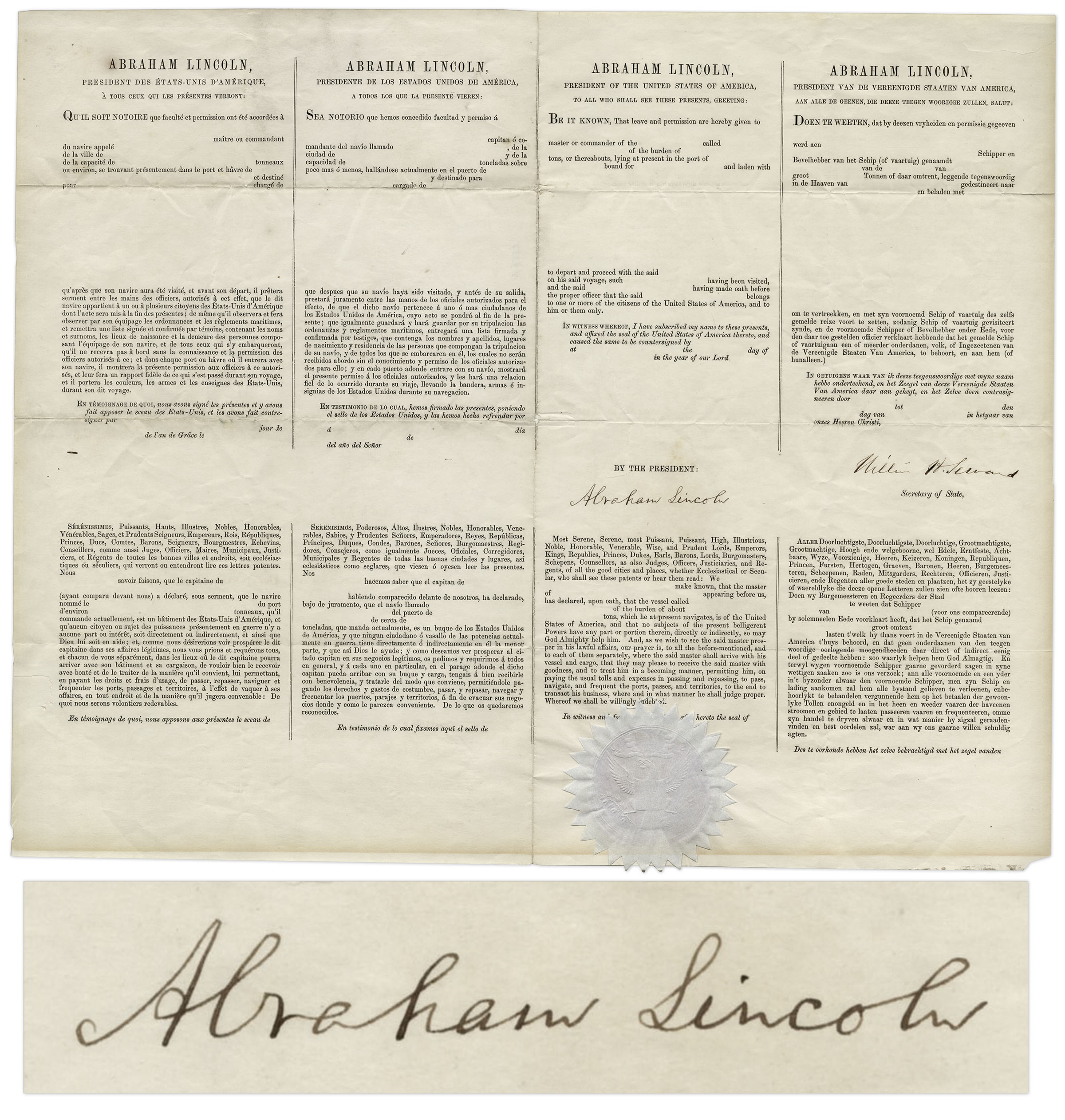 thesis statement president lincoln Did lincoln overstep his bounds as president which of lincoln's many wartime policies do you find most objectionable, and why.