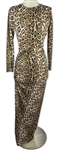 Khloe Kardashian Owned Leopard Print Dress