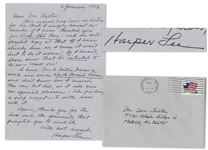 Famed Novelist Harper Lee Autograph Letter Signed -- Mentioning Fellow Southern Writer Willie Morris