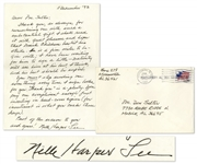 Harper Lee 1993 Autograph Letter Signed -- Responding to a Longtime Admirer -- ...You must stop sending me something every time I sign books for you. Thank you is a-plenty...