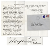Harper Lee Autograph Letter Signed -- ...tell me where the white trash is these days. Like everybody else I know with two dimes and a trailer, theyve gone to Florida!...