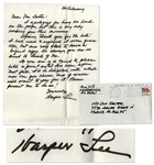 To Kill a Mockingbird Author Harper Lee Autograph Letter Signed -- ...I apologize for being so loud on the page...