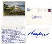 Affectionate Harper Lee Autograph Letter Twice-Signed -- Written on New Years Day to a Longtime Admirer -- ...you are certainly the best friend I have never met!...