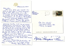 Harper Lee Autograph Letter Twice-Signed -- Mentioning Renowned Alabama Journalist Kathryn Tucker Windham -- ...I so enjoy her reminisces because they ring as clear as an evening bell...