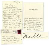 Author Harper Lee Autograph Letter Signed -- With Mention of Lees Worsening Macular Degeneration -- ...cant see, drat it...
