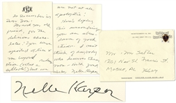 Famed Novelist Harper Lee Autograph Letter Signed -- ...You have spoiled Alice + me beyond redemption (what a syllable!)...