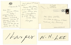 Harper Lee Autograph Letter Signed & Signed Envelope -- ...Santa Claus arrived today!...Merry Christmas, and may the new year bring you an abundance of good things!...