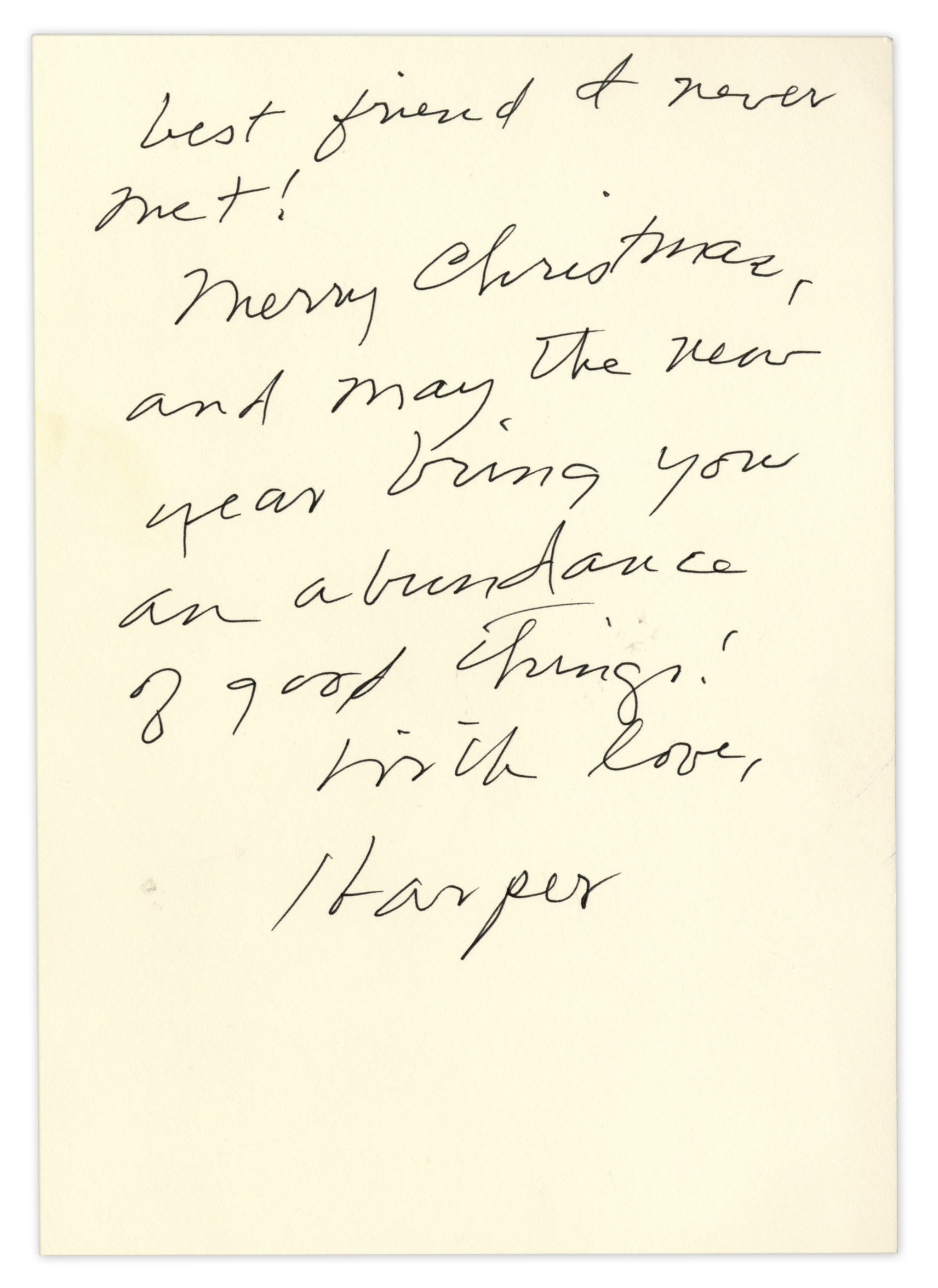 Lot Detail  Harper Lee Autograph Letter Signed  Signed Envelope