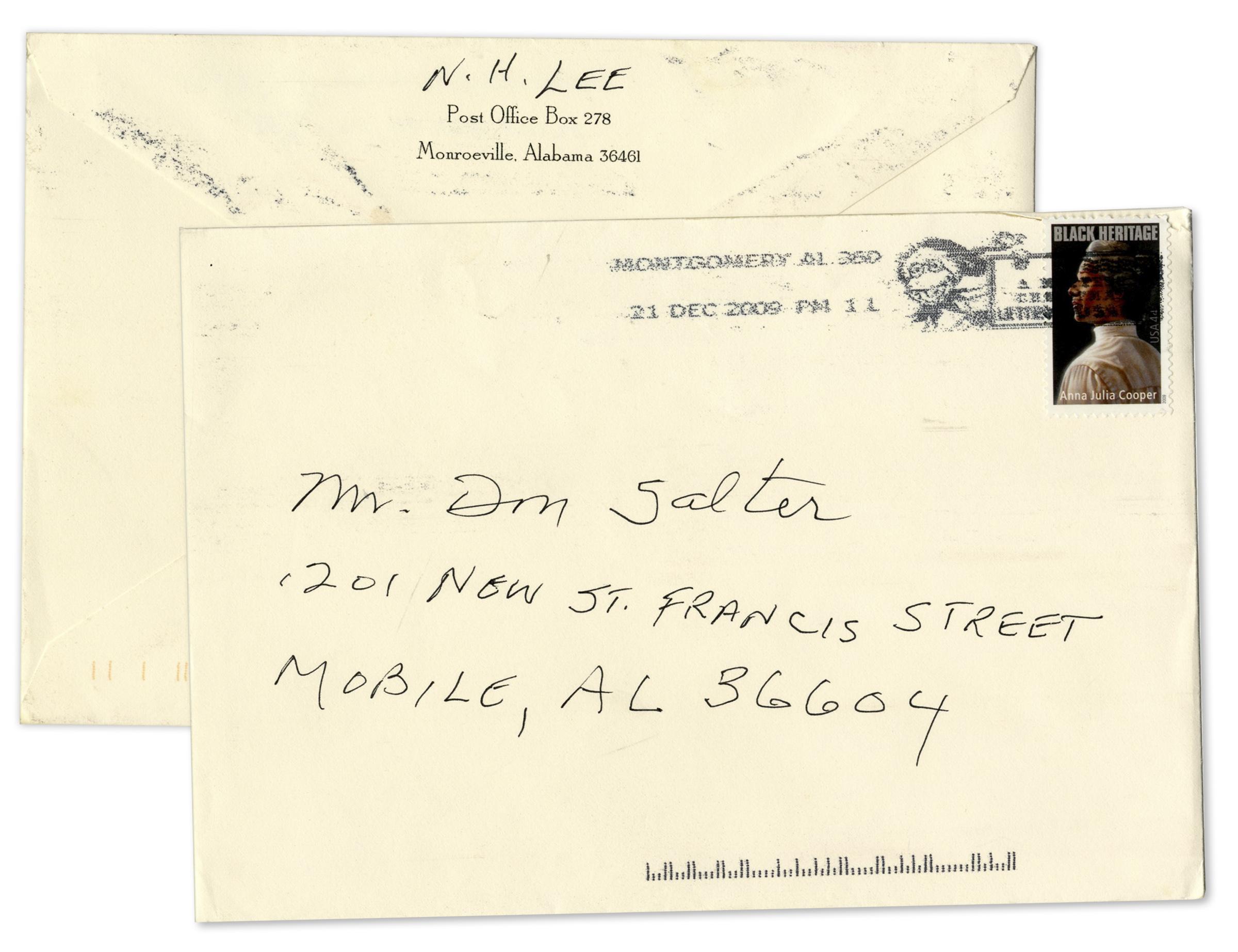 Lot Detail  Harper Lee Autograph Letter Signed  Signed Envelope