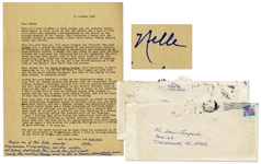 Harper Lee Autograph Note Signed at the Conclusion of a Lengthy Typed Letter Signed -- ...Forgive me if this letter sounds ungracious & ungrateful... -- Also With Exceptional Racial Content