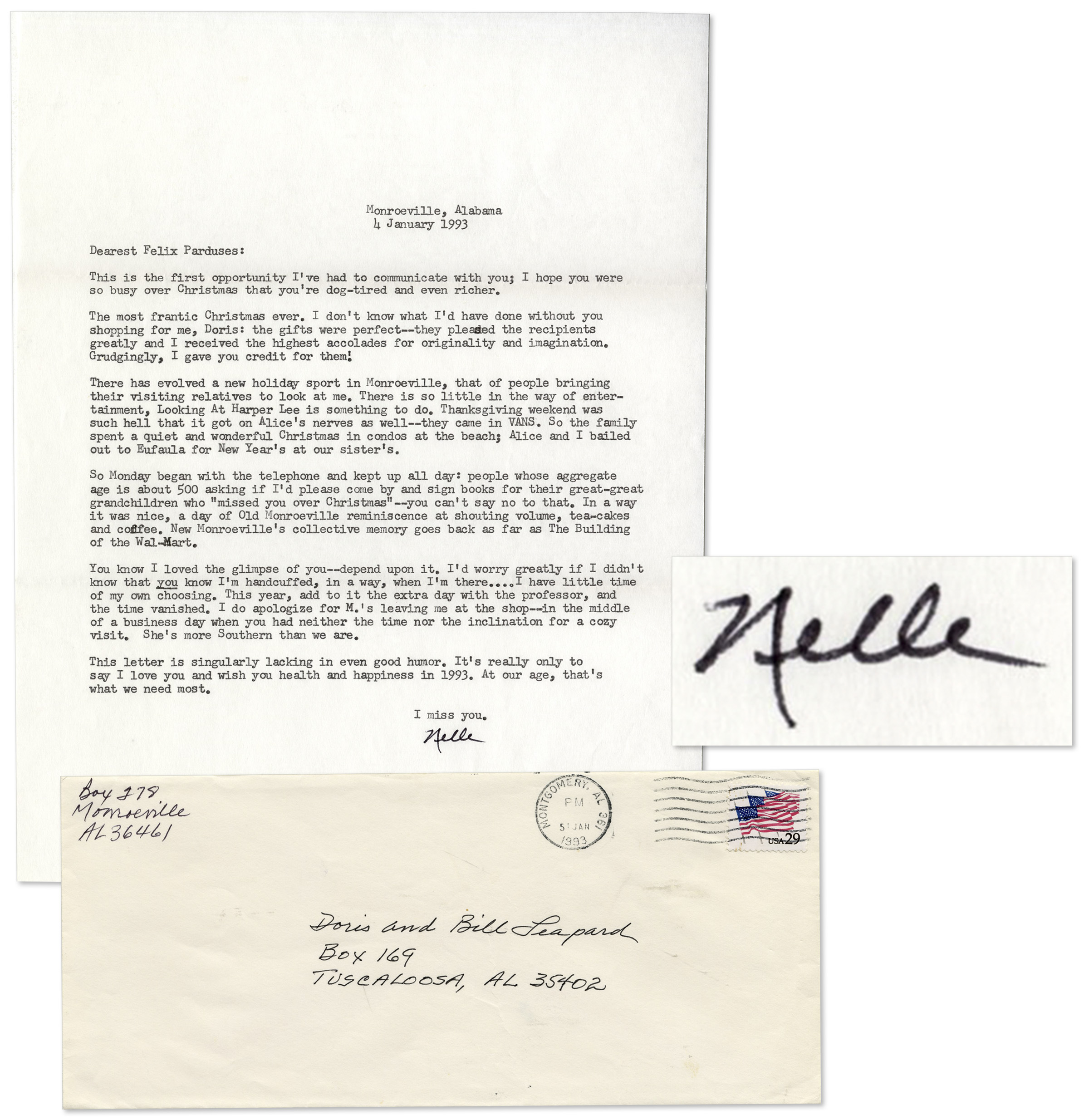Lot Detail Harper Lee Personal Typed Letter Signed A New