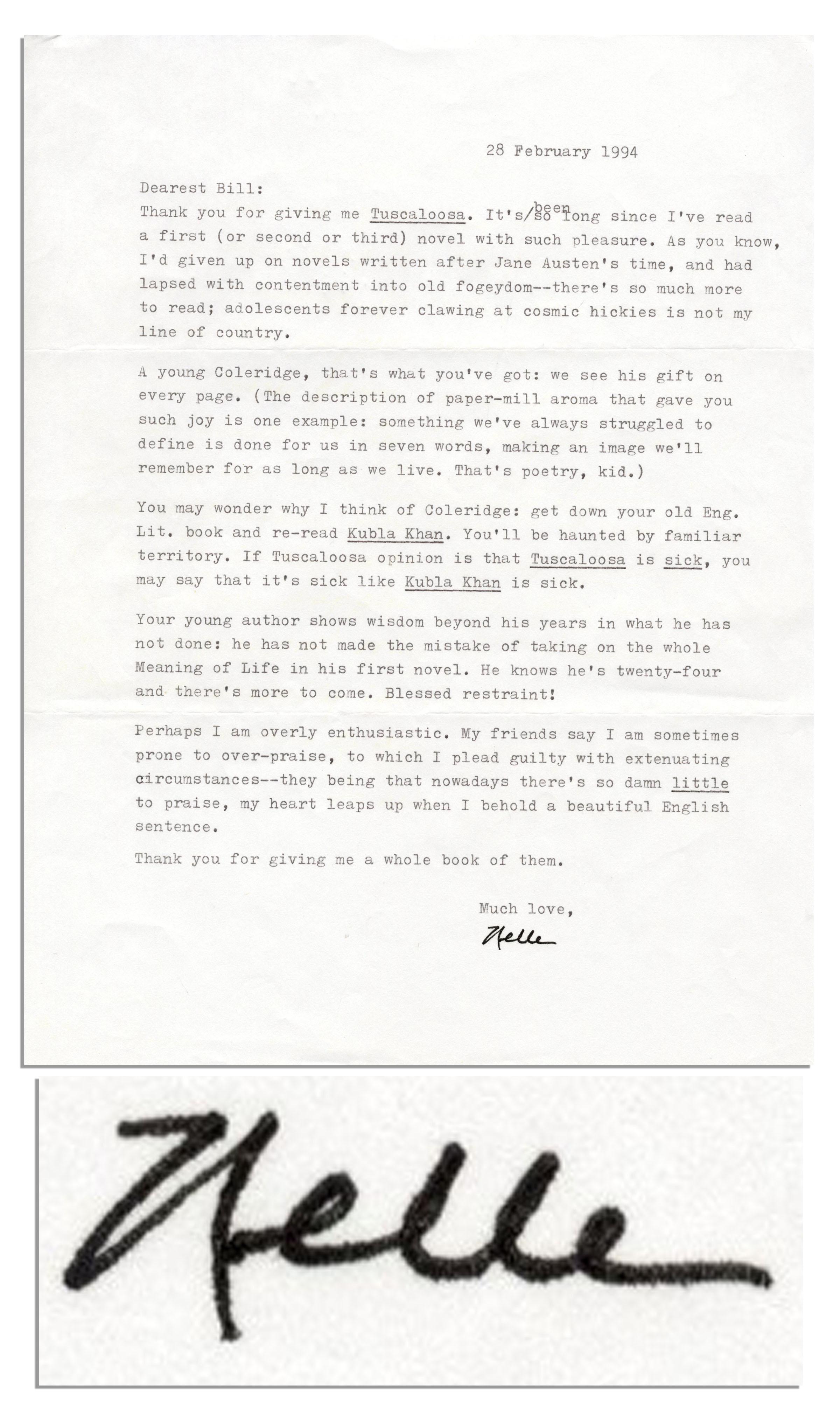 Lot Detail Harper Lee Letter Signed My Heart Leaps