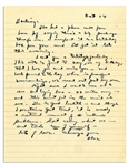 Dwight Eisenhower WWII Letter to His Wife -- ...though I sometimes get tired, it is merely a natural result of intensive problems...