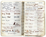 Sammy Davis Jr.s Personal Address Book Containing the Names & Addresses of Over 100 of His Celebrity Friends -- Michael Jackson, Muhammad Ali, Liz Taylor, Barbra Streisand, Jay Leno & More