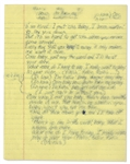 Prince In Love Handwritten Lyrics