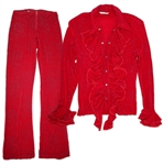 Prince Stage-Worn Red Costume -- Also Worn on the Album Cover of Princes Album Newpower Soul