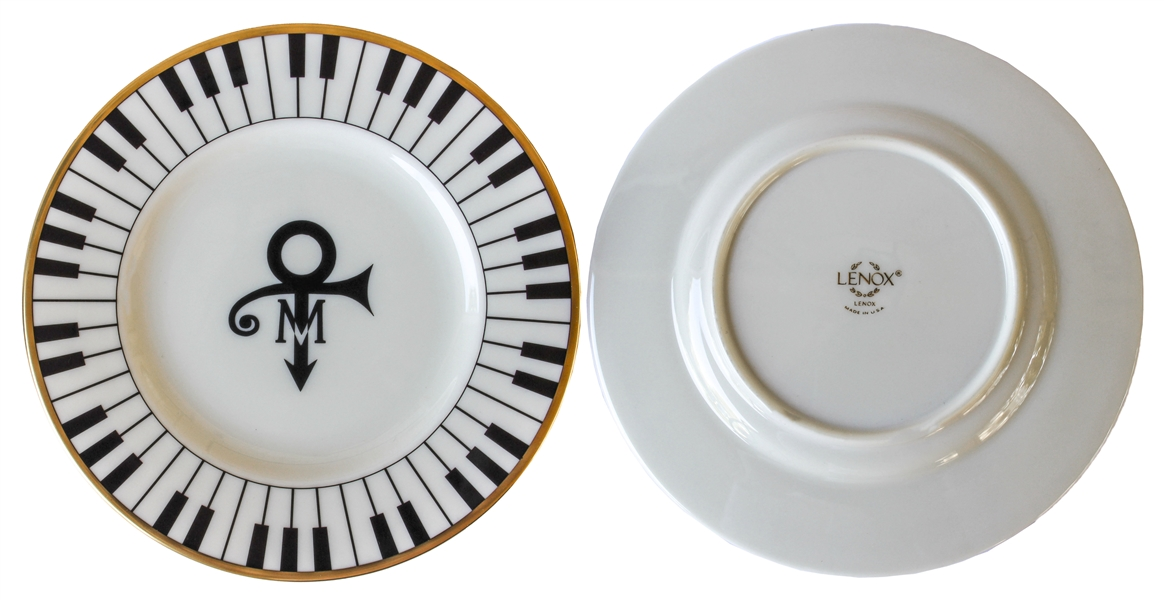 50 Piece Set of China From Prince's Wedding -- Featuring Prince's Love Symbol