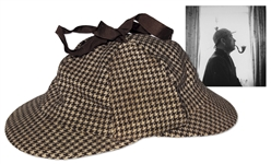 John Steinbecks Deerstalker Cap -- Worn the Year He Lived in Cornwall, England, Researching Literature He Cites as His Greatest Influence -- With LOA From Thomas Steinbeck