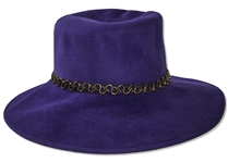 Alicia Keys Worn Purple Hat -- With a COA From Keys