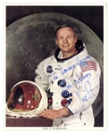 Neil Armstrong 8 x 10 Signed Photo -- Near Fine