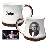 Johnny Carson Mug Used on His Desk During The Tonight Show -- Previously Owned by Carsons Personal Correspondent Who Worked on The Show For 10 Years