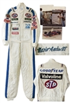 Racing Legend Mario Andretti Race-Worn Suit -- Worn During the 1982 CART Season, Andrettis Last Year Racing for Formula One