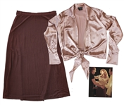 Cate Blanchett Wardrobe From Bandits -- Stunning Satin Top Worn by the Academy Award Winning Actress