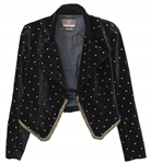Cher Worn Roberto Cavalli Black Velvet Jacket With Gold Embroidering