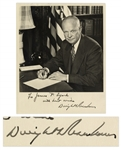 Dwight D. Eisenhower Signed 8 x 10 Photo -- With COA From PSA/DNA
