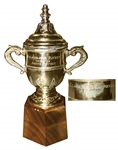 Rare Clarence Campbell Bowl Trophy Issued to Andre Dupont of The Philadelphia Flyers in 1974-75