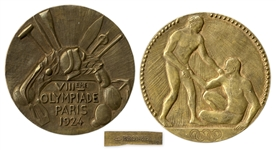 Bronze Olympic Medal From the 1924 Summer Olympics, Held in Paris, France