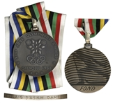 Silver Olympic Medal From the 1968 Winter Olympics, Held in Grenoble, France