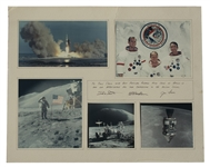 Apollo 15 Photo Montage Signed by Crew -- David Scott, Alfred Worden & James Irwin