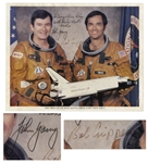 Columbia STS-1 Signed 10 x 8 NASA Photo by John Young & Robert L. Crippen