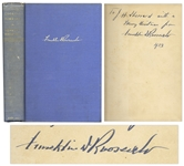 Franklin D. Roosevelt Signed Presentation Copy of His First Book Looking Forward as President