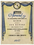 Tex Beneke 1947 Billboard Award
