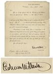 Secretary of War Edwin Stanton Signed Military Appointment