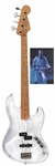 INXS Extremely Rare Custom-Made Fender Guitar With Plexiglas Body -- Used by Bassist Garry Beers Live During X Tour in 1990s -- With LOA From Garry Beers