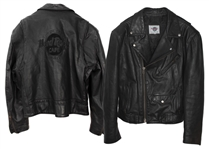 Garry Beers of INXS Stage-Worn Black Leather Jacket -- With LOA From Garry Beers